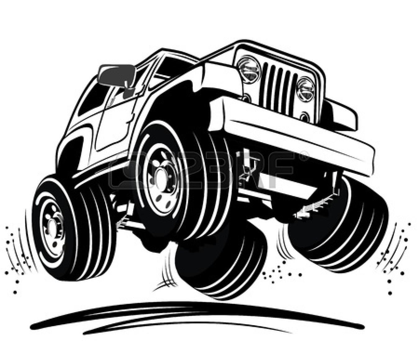 dibujos animados 4 ruedas motrices.