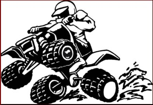 Four Wheeler Black And White Clipart.