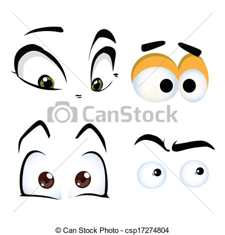 Vector Clipart of eyes.