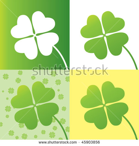 Clover Leaf Stock Photos, Royalty.