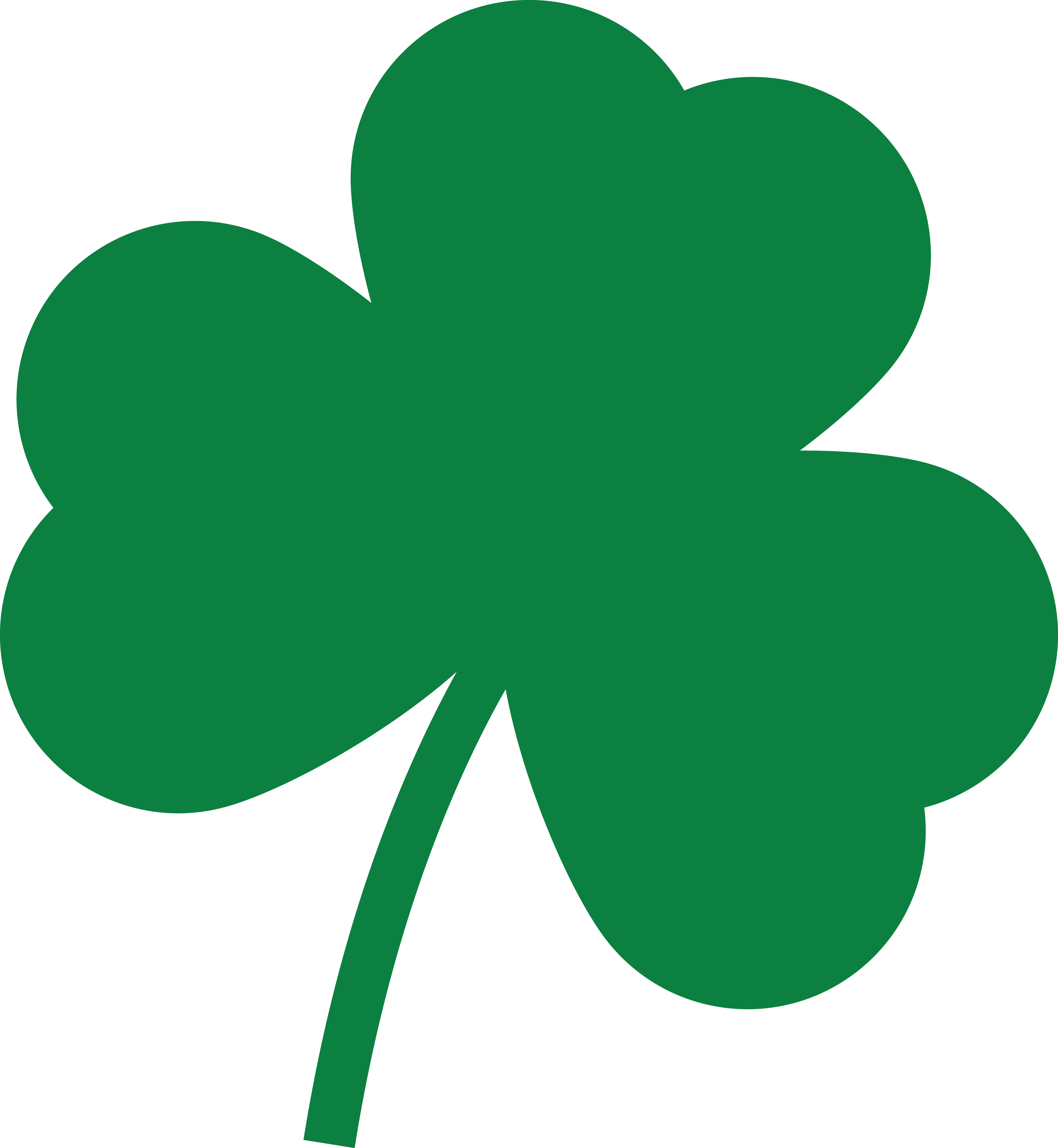 Free Clipart Of A St Paddys Day Solid Green Shamrock Four Leaf Clover.