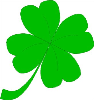 Clipart four leaf clover.