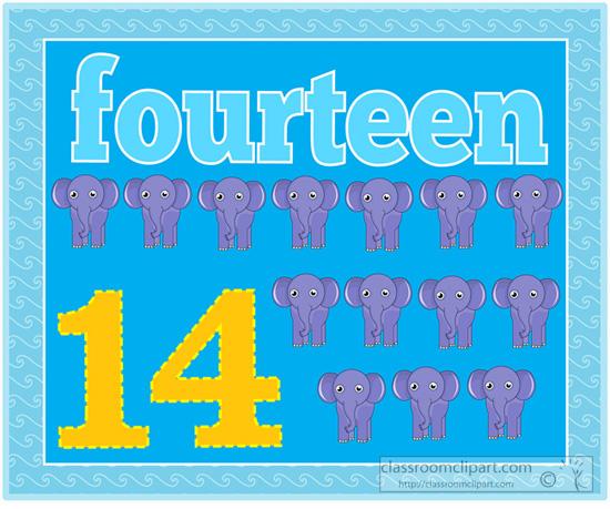 Fourteen clipart.