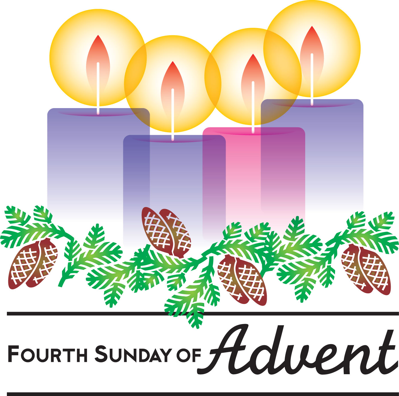 Clipart Fourth Sunday Of Advent Love.