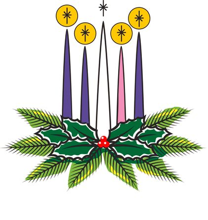 Advent wreath clipart fourth week.