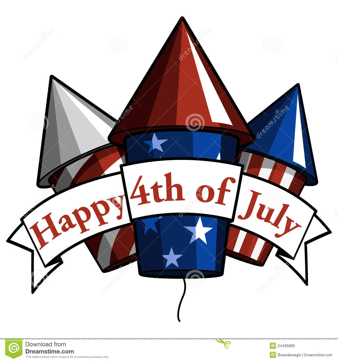Clipart for july 4th sign board.
