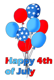 4th of July Clipart.