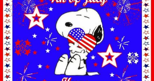 happy 4th of july snoopy.