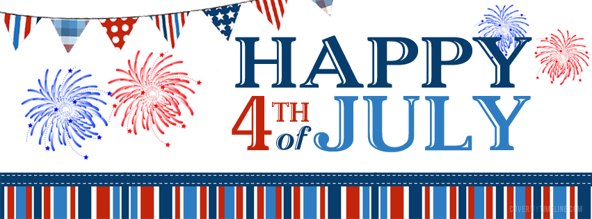 Happy 4th Of July Banner Clipart.