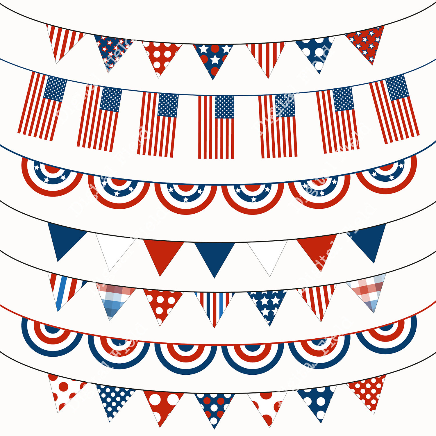 Fourth Of July Banner Clipart.