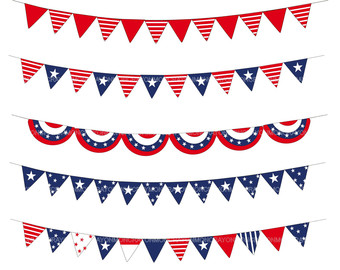 Gallery For > 4th of July Banner Clipart.