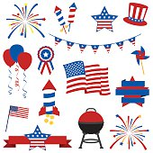 Free 4th of July Firework Clipart and Vector Graphics.