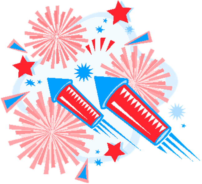 Fourth of july fireworks clipart clipart images gallery for free.