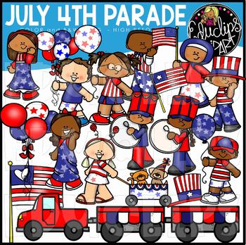 July 4th Parade Clip Art Set {Educlips Clipart}.