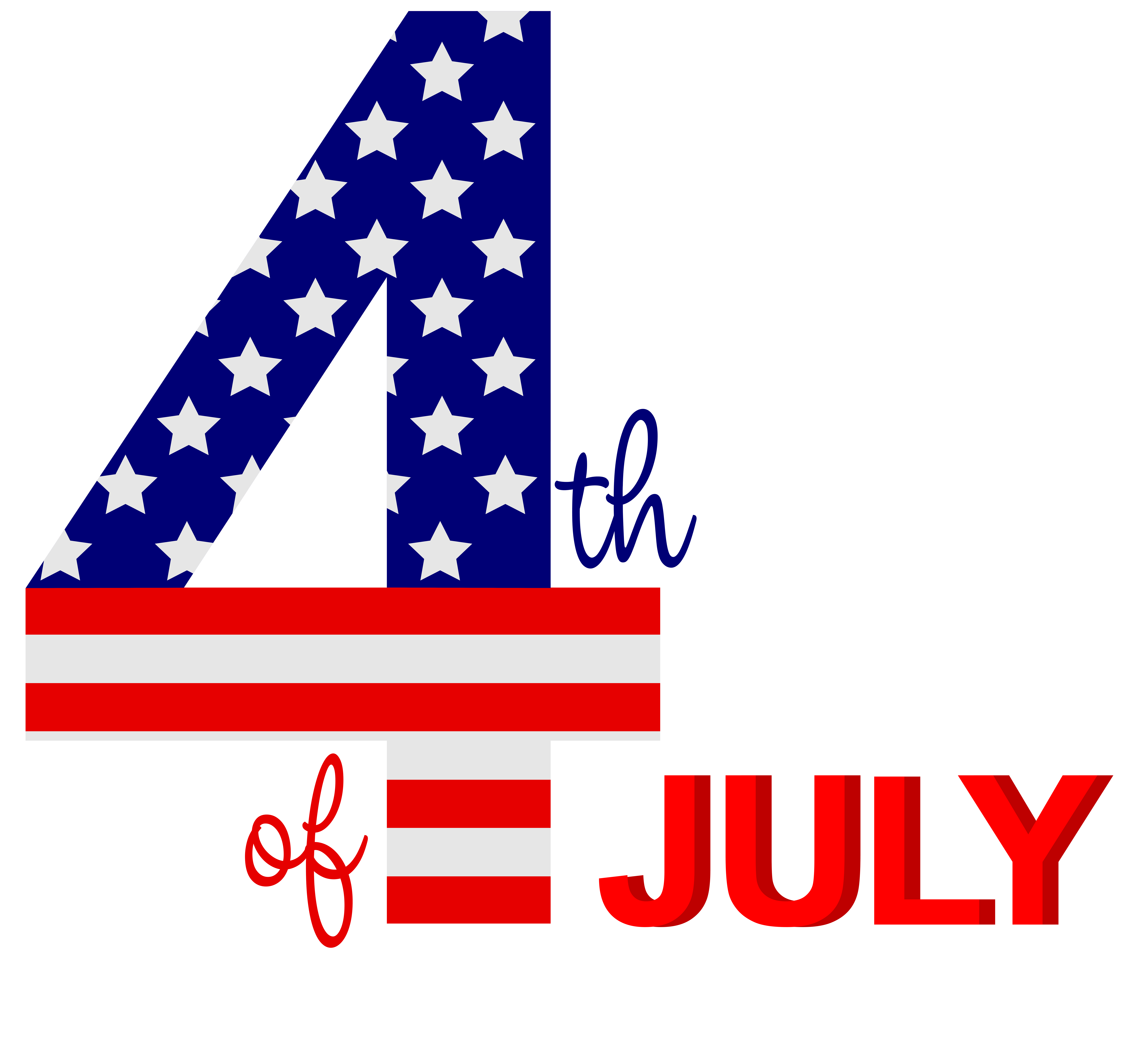 4th of July PNG Clip Art Image.