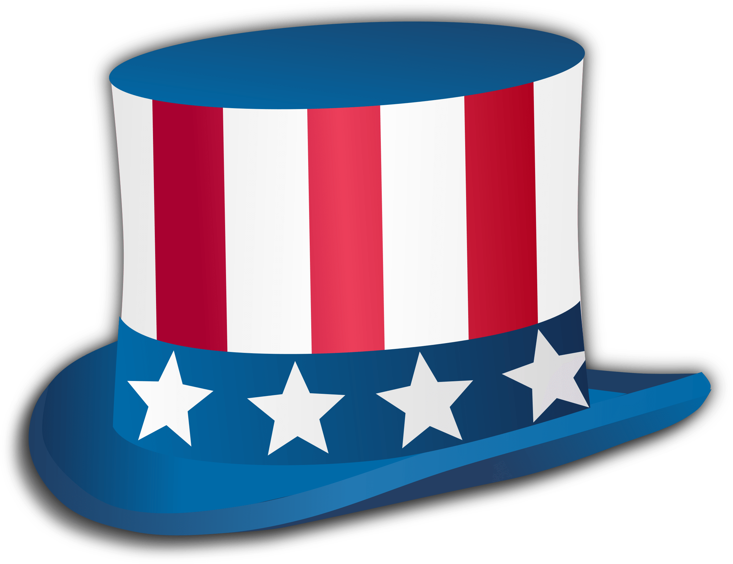 Happy Fourth Of July Top Hat transparent PNG.