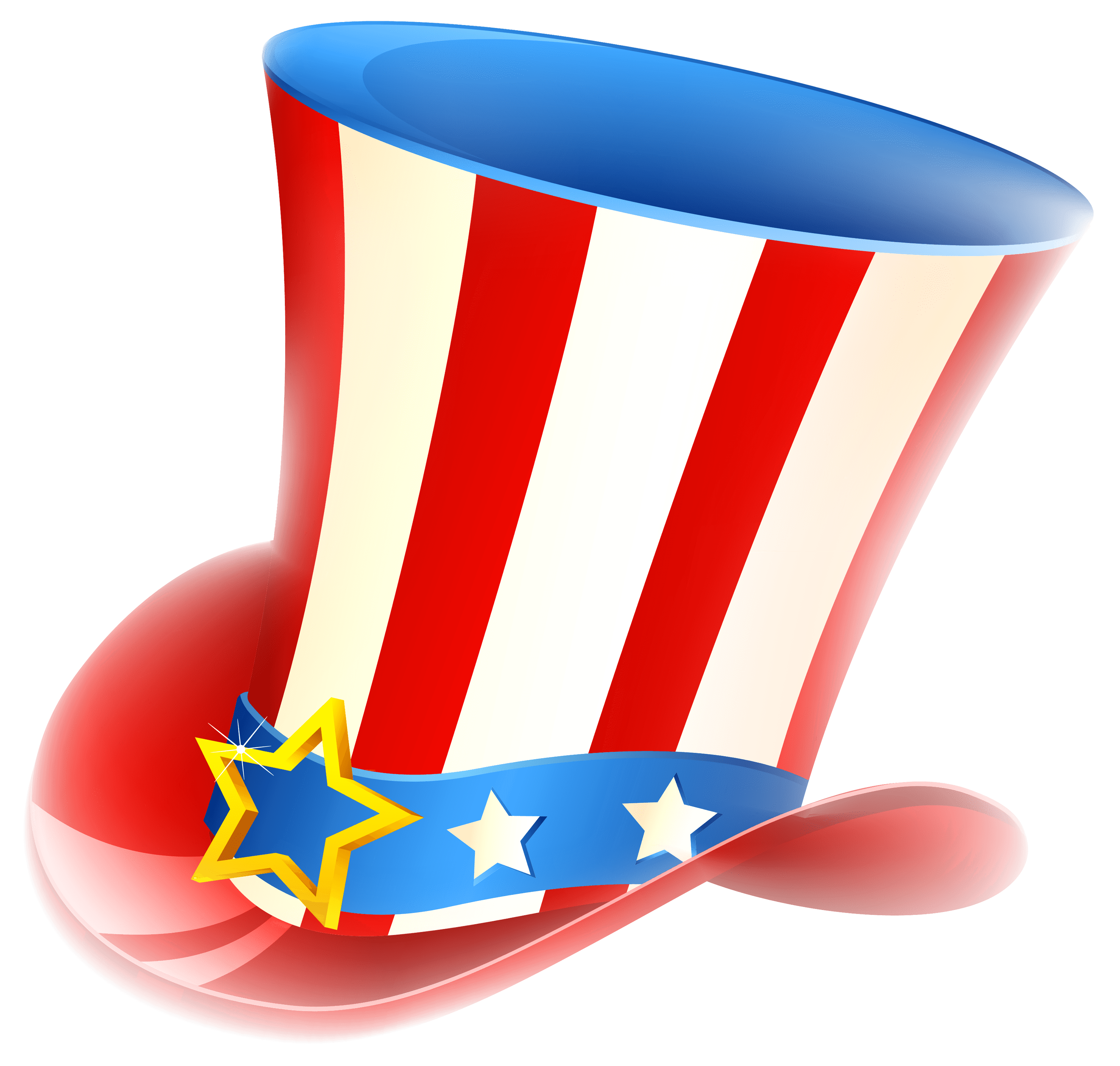 Happy Fourth Of July Uncle Sam Tophat transparent PNG.