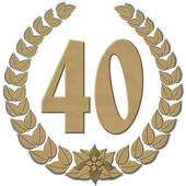 40 years clipart.