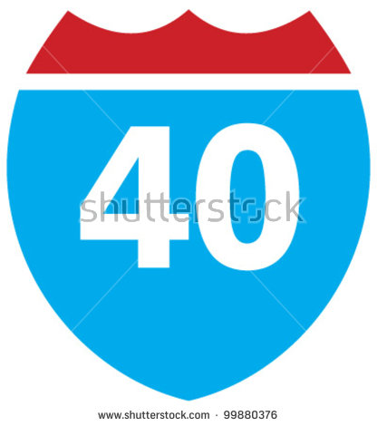 Forty Miles Per Hour Speed Limit Stock Photo 184039046.