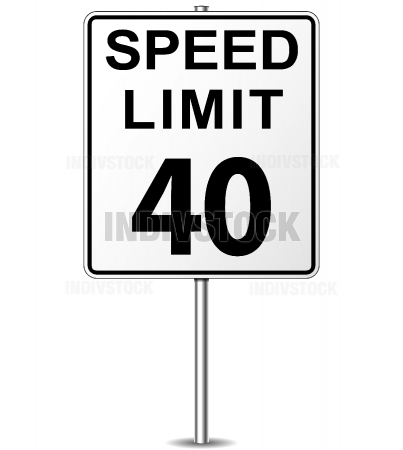 Vector speed limit sign.