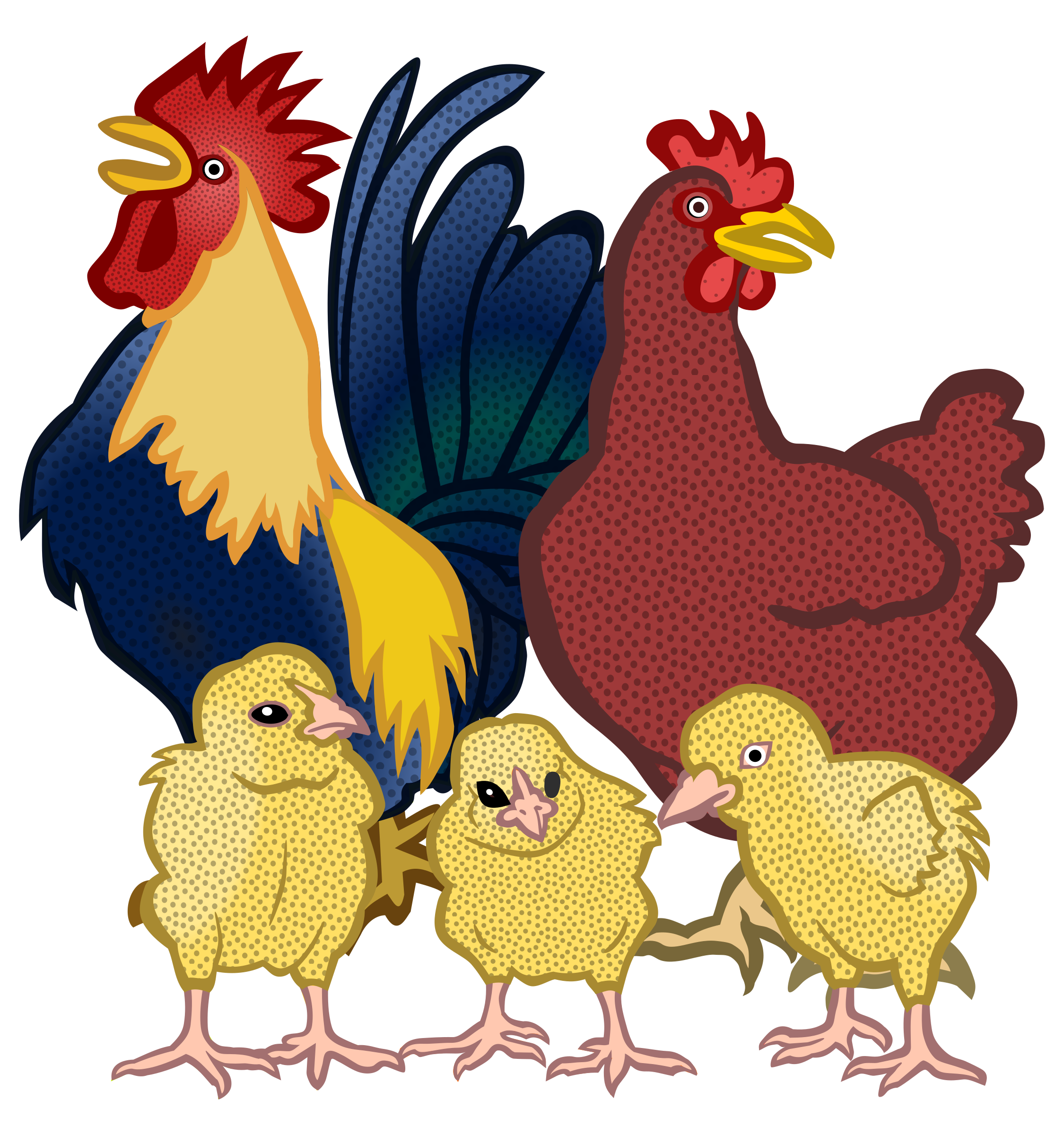 Chickens Vector Clipart.