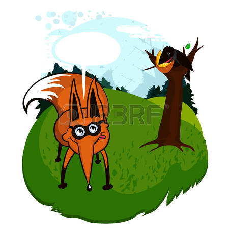 80 Fox And Crow Cliparts, Stock Vector And Royalty Free Fox And.