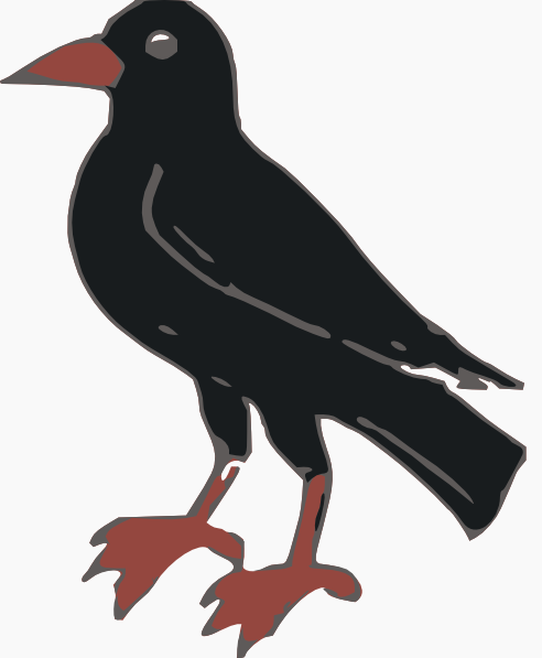 Red Crow Clipart.