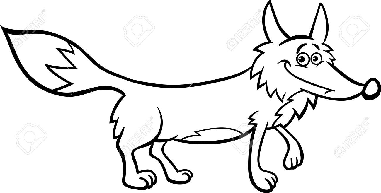 Fox black and white clipart 3 » Clipart Portal.