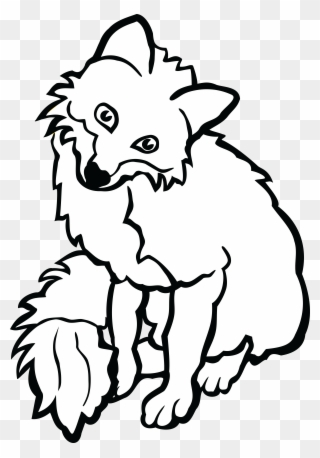 Free PNG Free Fox Black And White Clip Art Download.