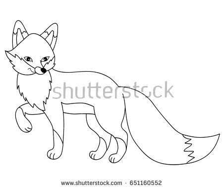 Fox clipart black and white 5 » Clipart Station.