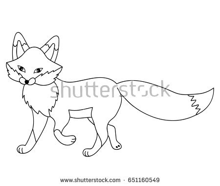 Fox Clipart Black And White Black And Whit #168661.