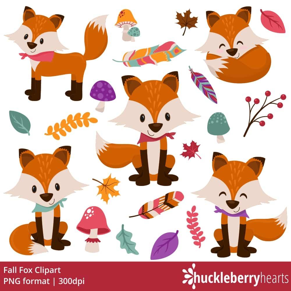 Fall Fox Clipart.