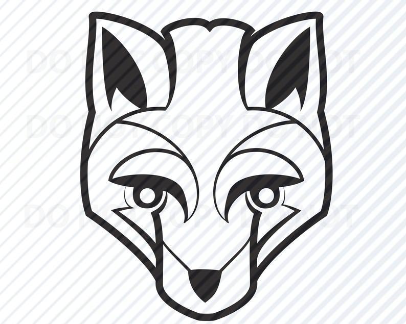 Fox Head SVG Files Clipart.