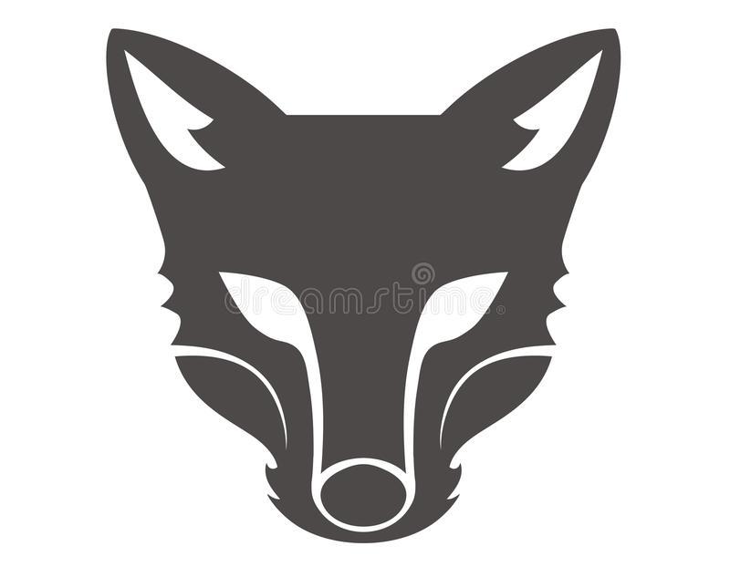 Fox Head Silhouette Stock Illustrations.