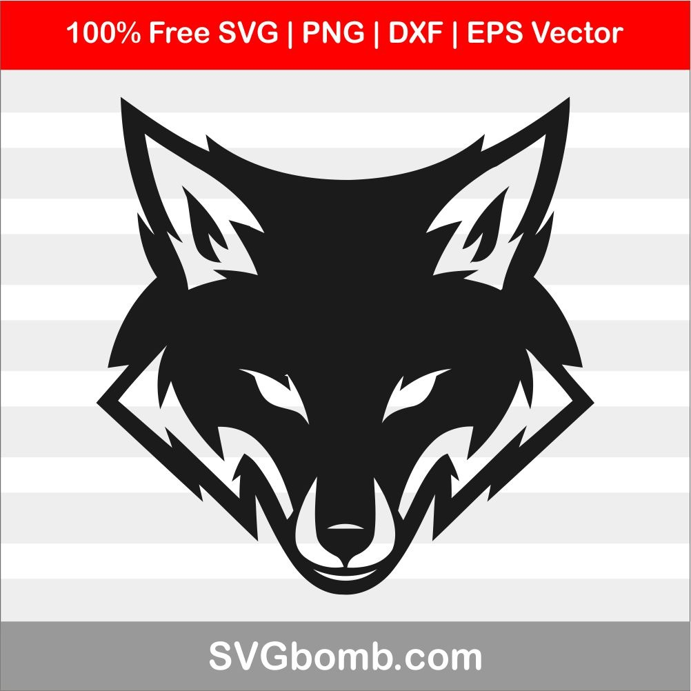 Fox Head SVG Cut File For Cricut.