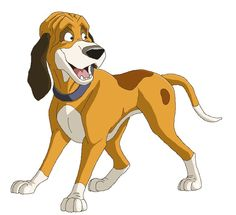 Fox and the hound clipart.