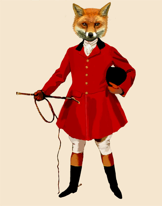 Fox Hunter 2 Full Fox hunting fox print fox painting fox by.
