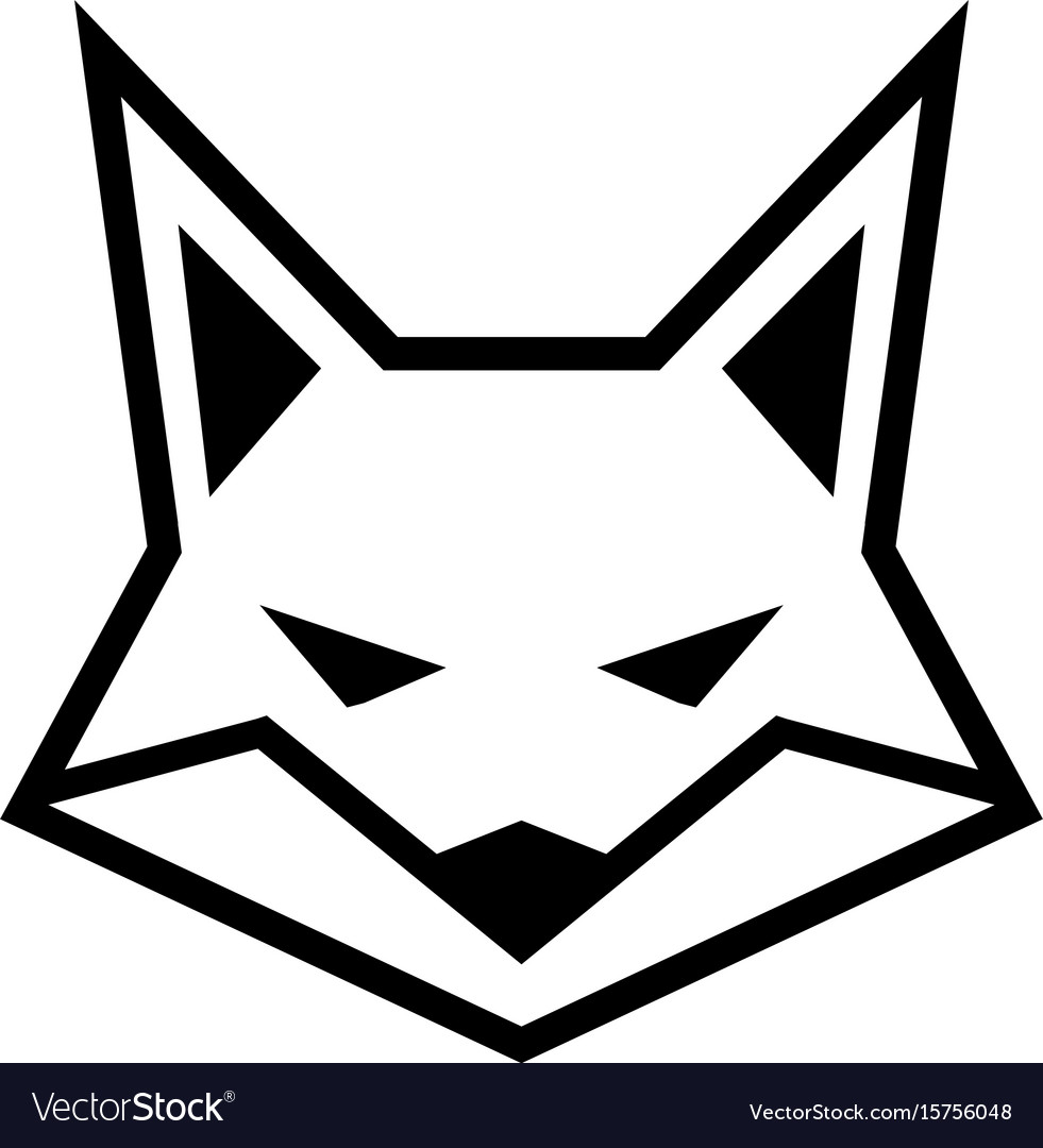 Fox face logo icon.