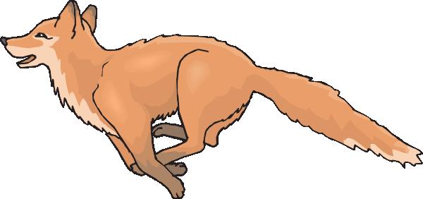 Running Fox Clipart.
