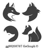 Fox Silhouette Clip Art.