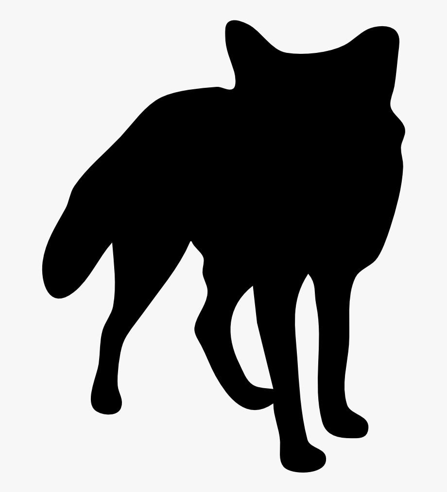 Banner Royalty Free Fox Head Clipart Black And White.
