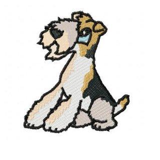 Wire fox terrier clipart.