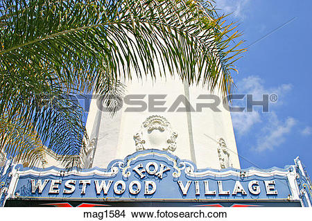 Stock Photo of Art Deco Fox theatre Westwood Village California.