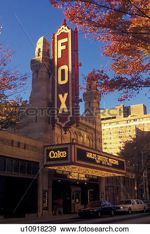 Stock Photograph of Fox Theater, Atlanta, GA, Georgia, The.