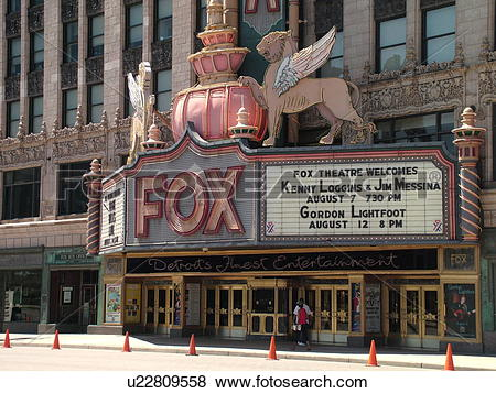Pictures of Detroit, MI, Michigan, Motor City, Downtown, Fox.