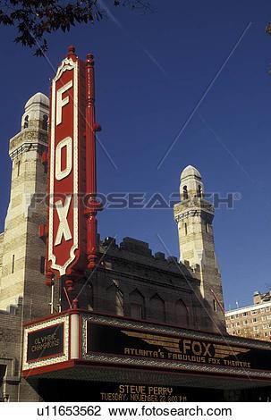 Stock Photo of theater, Atlanta, The Fabulous Fox, GA, Georgia.