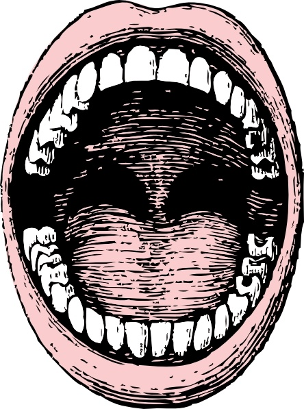 Open Mouth clip art Free vector in Open office drawing svg ( .svg.