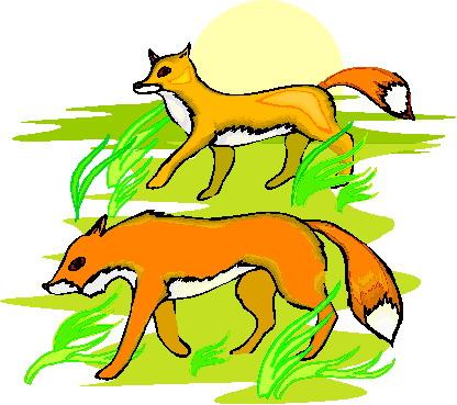 Foxes Clip Art.