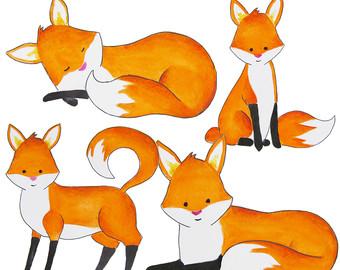 Cute fox clip art.