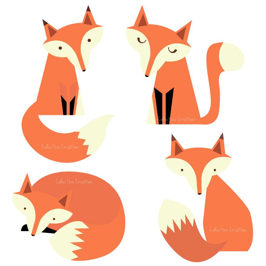 Clip Art Baby Fox Clipart.